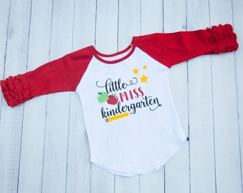 Little Miss Kindergarten Shirt Back to School