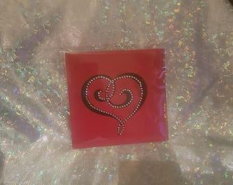 Heart gem Valentine's card
