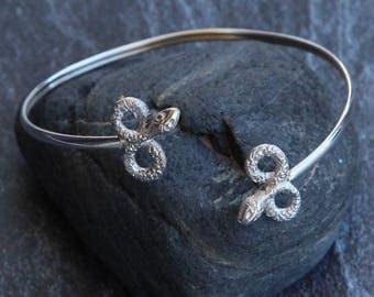 cuff bracelet snake 925 silver bracelet Boho cuff Sterling silver jewelry Snake silver cuff bracelet Vintage bracelet infinite symbol
