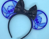 Stitch 3D Printed Mouse Ears with choice of sequin bow