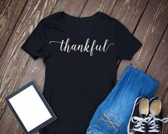Thankful Shirt, Fall Shirts, Ladies Fall Shirt, Trendy Shirts, Womans Graphic Tee, Thankful T-Shirt, Fall Tee, Fall T-Shirt, Thankful Tee