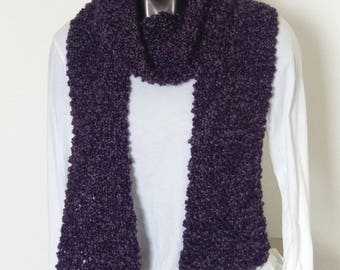 Deep Purple Long Scarf