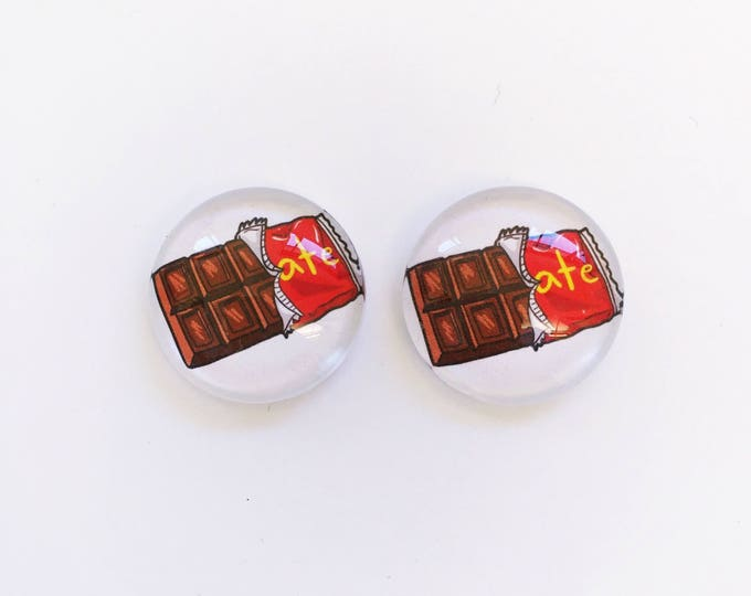 The 'Chocolate' Glass Earring Studs