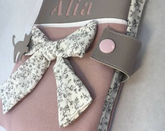 Pink and gray health book personalized