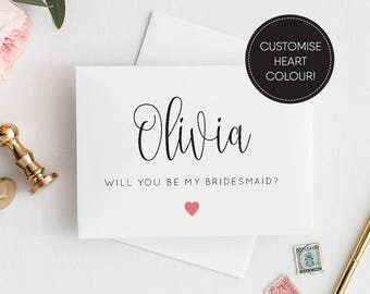 Printable/ Will You Be My Bridesmaid Card/ Wedding Printable Bridesmaid/ Bridesmaid Card/ Download/ PDF/ Personalised/ Olivia suite #040