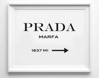 "Download JPG+PDF: 18x24"",16x20"",11x14"",A2,A3,A4 | Prada Marfa Print | Gossip girl print,Fashion Wall Decor,Black and white,Digital Printable"