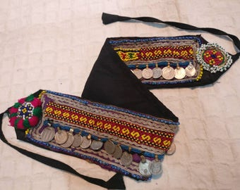 Vintage Kuchhi Afgani belt, Belly dancing belt, waist accessories, waist jewelry, hobo, Boho belt