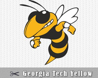 Georgia Tech Yellow jackets SVG PNG Logo Vector Cut File Silhouette Cameo Cricut Design Template Stencil Vinyl Decal Tshirt Transfer Iron on