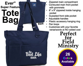 The Best Life Ever Tote Bag, Jehovah's Witness, JW Org, Field Service/Ministry Bag