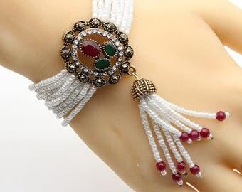 Sale,Vintage beaded bracelet women jewelry