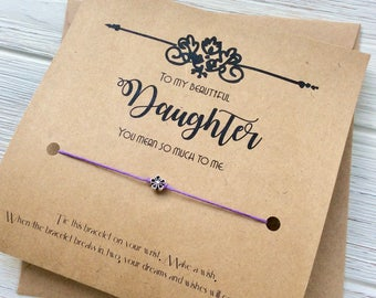 Mom Gift For Daughter Gift From Mom Daughter Birthday Card Daughter Gift From Dad Gift For Daughter Birthday Gift Mother Daughter Bracelet