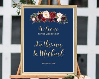 Wedding Welcome Sign, Ceremony Welcome Sign, Welcome To Our Wedding,
