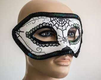 Day of the Dead Spider Half Mask Cosplay