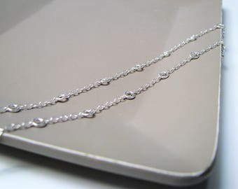 Necklace Choker II ringer II chain 925 sterling silver circles II silver jewelry