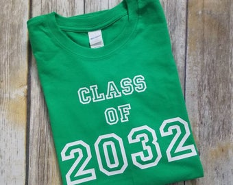 Class of 2032 Shirt, School Shirt, Graduation Year Shirt, Gift for Pre-K Pre-Kindergarten, First 1st Day of School T Shirt