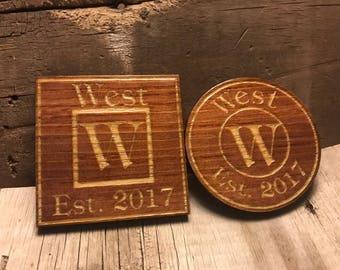 Custom Engraved Drink Coasters!