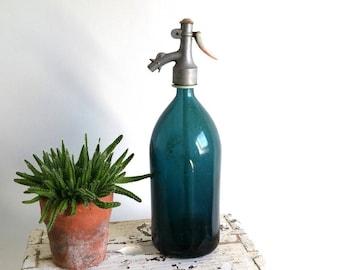 Amazing Bleu antique Seltzer bottle
