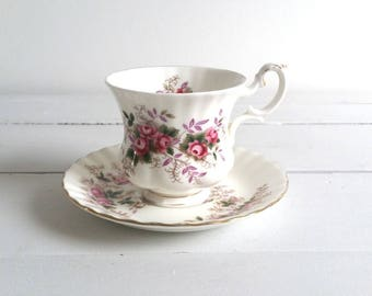 Antique cup and saucer 'Lavender Rose' by Royal Albert