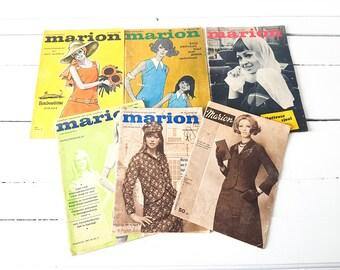 Dutch vintage fashion magazines 'Marion' * old fashion magazines * 1960 * vintage pattern magazines * photoprops