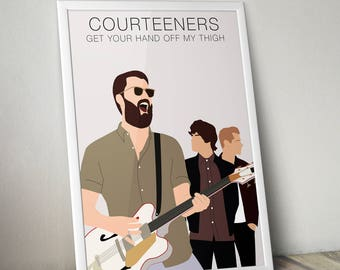 Courteeners Print A3 Size wall art home decor liam fray illustration