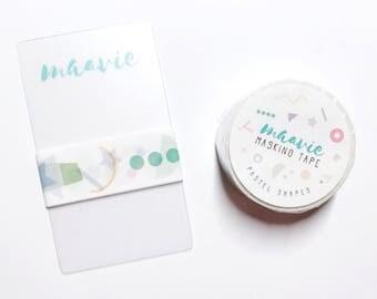 SAMPLE maavie masking tape - pastel shapes