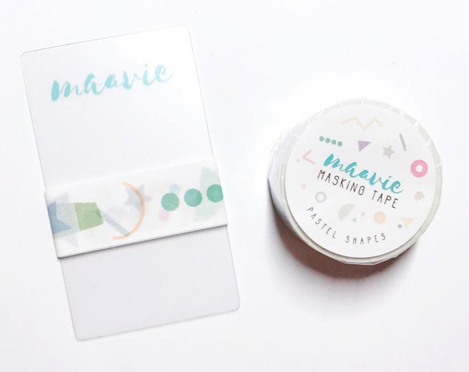 Sample Maavie masking tape-pastel shapes