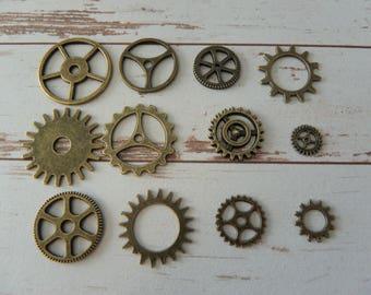 retro charm Victorian gears exhibit Gears cogs steampunk vintage watch mechanisms