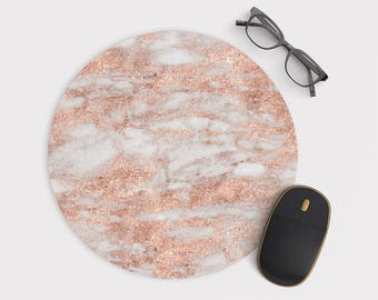 Mouse Pad Mousepad  Pink Marble Martino  -  M191
