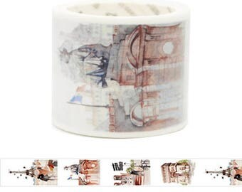Travel Edition for Scrapbook - France Watercolor Painting Washi Tape