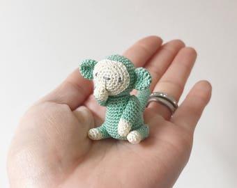 TINY MONKEY crochet, amigurumi monkey, small monkey, monkey gift, monkey gift for kids, birthday gift, monkey keepsake, miniature monkey