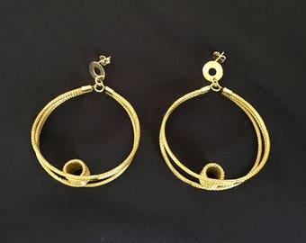Golden Grass Earrings / Organic Jewelry / Capim Dourado / Brincas Oro Vegetal