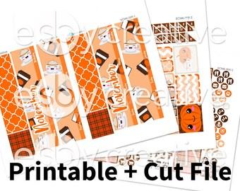 November 2017 Monthly Kit - Pumpkin Spice - Erin Condren Monthly View Sticker Kit Printable - ECMK-009 - INSTANT DOWNLOAD