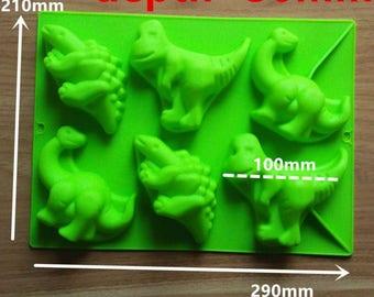 Dinosaur Shape Silicone Baking Cake Mold Candle Mold