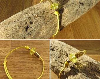 Waxed cotton bracelet waxed 16326