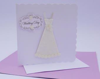 Unique Wedding Dress, Luxury Wedding Dress, Wedding Cards, Wedding Card, White Wedding Dress, Wedding Dress, Bride's Dress, 3D Wedding Dress