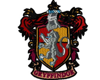 5x7 Embroidery File: Gryffindor Crest, Choose Your Size and Format