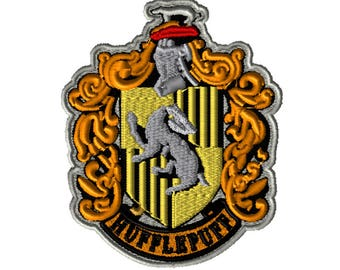 5x7 Embroidery File: Hufflepuff Crest, Choose Your Size and Format