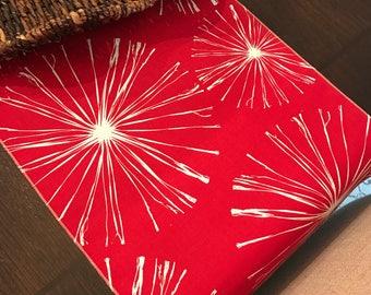 Patriotic Table Runner | Fireworks Table Runner | Red or Blue | 4th of July Table Runner | White | Red Table Runner