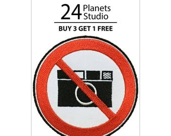 Don't Take Pictures Iron on Patch by 24PlanetsStudio