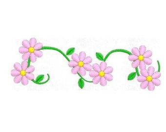 Vine Flower Embroidery Design, Machine Embroidery Design Pattern File, 4x4 Hoop, MULTIPLE FORMATS Download