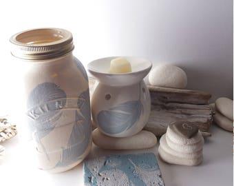 Beautiful Serenity Range*Mason Jar,Burner or Natural Stone Coaster,