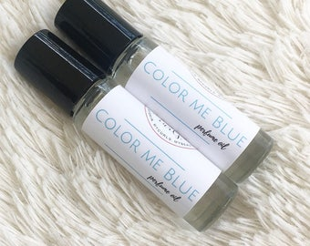 Color Me Blue Perfume Oil, Perfume Oil, Fragrance, Scented Body Oil, Roll On Perfume