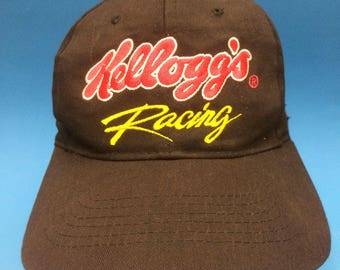 Vintage Kelloggs Racing Snapback Hat Adjustable 1990s