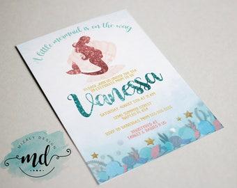 Baby shower Mermaid Invitation Printable