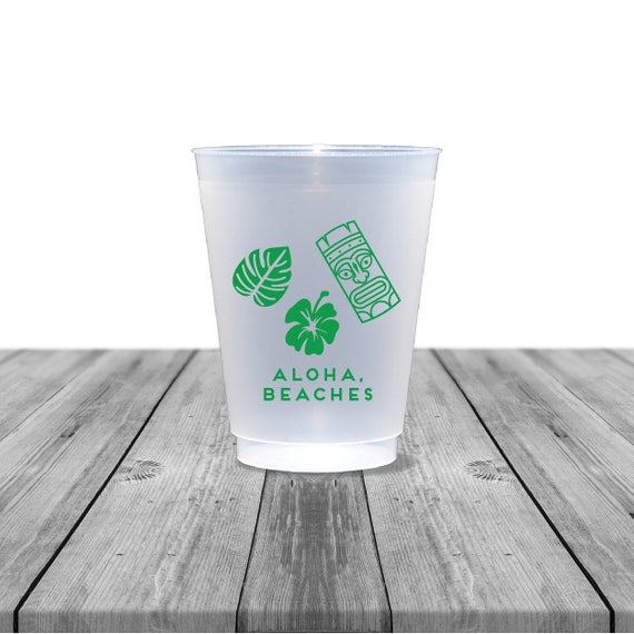 wedding cups frosted cups personalized cups plastic cups
