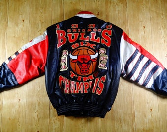 RARE Vintage 1998 CHICAGO BULLS Premier Edition Nba Final Full Leather Handmade By Jeff Hamilton