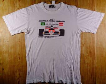 ON SALE! Vintage MARLBORO Honda Mclaren Team Tshirt