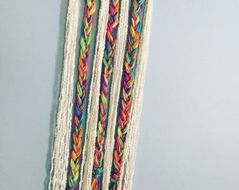 Multicolor Braided Wall Hanging
