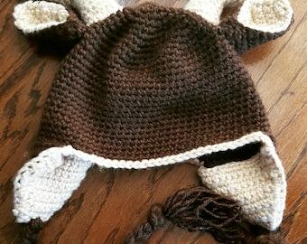 Deer Earflap Winter Hat / Animal Hat / Forest Hat / Nature Hat