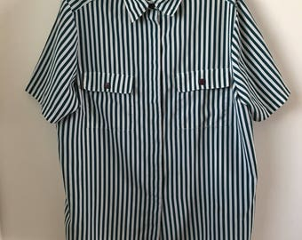 89s Oversized Striped Blouse xl/xxl
